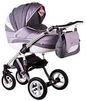 Детская коляска универсальная 2 в 1 Adamex Aspena Grand Prix Collection Grey - White 4 Адамекс Аспена