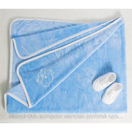 Детские одеяла в роддом для мальчиков,девочек.3109KAY.Махра с вышивкой нейтральных расцветок 90x120, фото 2