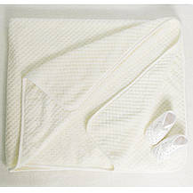 Детские одеяла в роддом для мальчиков,девочек.3109KAY.Махра с вышивкой нейтральных расцветок 90x120, фото 3