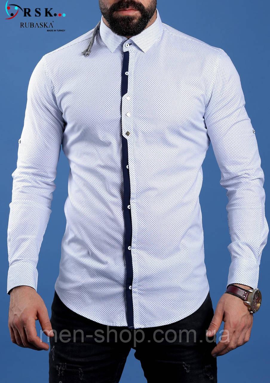 33f2f8c54d8 Стильная белая мужская рубашка  продажа