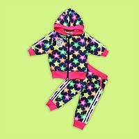 Очень модная и стильная новинка - костюмчик-двоечка для Ваших маленьких модниц 74-110