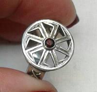 Коловрат оберег серебро с чернением.