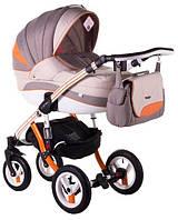 Детская коляска универсальная 2 в 1 Adamex Aspena Grand Prix Collection Orange-White 9 Адамекс Аспена