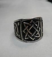 Квадрат Сварога серебро с чернением.