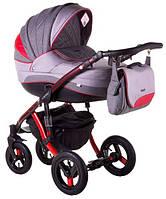 Детская коляска универсальная 2 в 1 Adamex Aspena Grand Prix Collection Red - Black 1 Адамекс Аспена
