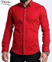 Стильная красная мужская рубашка, фото 1