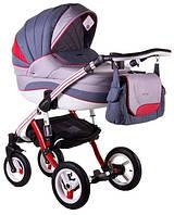 Детская коляска универсальная 2 в 1 Adamex Aspena Grand Prix Collection Red - White 8 Адамекс Аспена