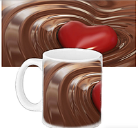 Кружка подарок  - Шоколадное сердце