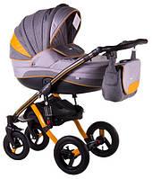 Детская коляска универсальная 2 в 1 Adamex Aspena Grand Prix Collection Yellow-Black 3 Адамекс Аспена