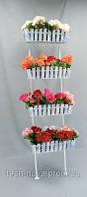 Подставка свадебная для цветов Лестница Кантри 4