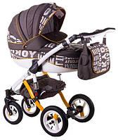 Детская коляска универсальная 2 в 1 Adamex Aspena World Collection City Brown (Аспена)