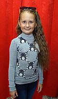 Гольф трикотажный Мишки для девочки 7-12 лет Kas kids