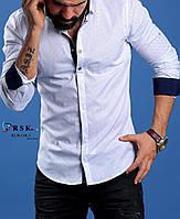 Модная белая мужская рубашка
