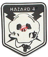 Шеврон ПВХ Hazzard-4 (white, olive, coyot)