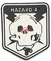 Шеврон ПВХ Hazzard-4 (white, olive, coyot), фото 1