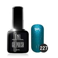 Гель-лак TNL № 227 голубой топаз 10 мл.