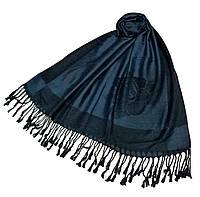 Палантин теплый Роза Шанель BG 122-12 темно-серый