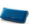 Женский кожаный клатч SТ ВС38 Blue