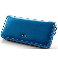 Женский кожаный клатч SТ ВС38 Blue, фото 1