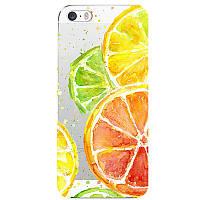 Силиконовый чехол бампер для iPhone 7 яркие апельсины