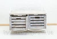 Этажерка прованс горизонтальная 2 (2 ящика)