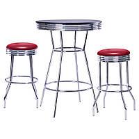 Комплект Roxy красный стол барный и 2 стула