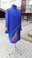 Женское пальто синего цвета