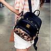 Женский маленький рюкзак с шипами, фото 7