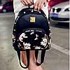 Женский маленький рюкзак с шипами