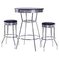 Комплект Roxy черный стол барный и 2 стула
