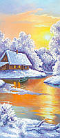 "Схема для вышивки бисером ""Зима"", 17х39 см"