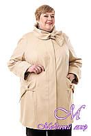 Женская весенняя куртка батал (р. 54-76) арт. В-120 Лапка Тон 48