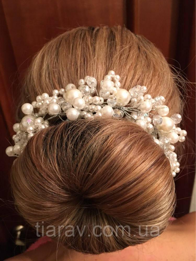 Гребень заколка свадебная для волос диадема Сара гребень украшение диадемы аксессуары