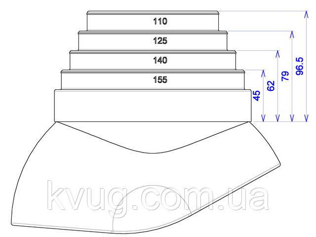 ворот трубы 110-155