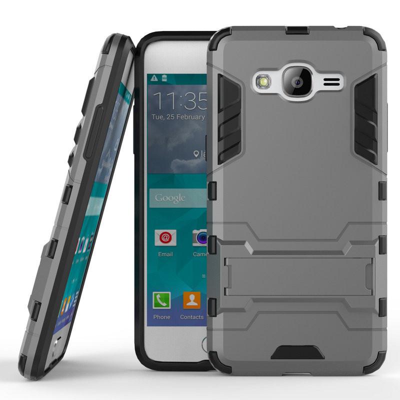 Чехол Samsung J2 Prime / G532F Hybrid Armored Case темно-серый