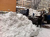 Вывоз снега.Уборка снега вручную.