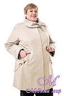 Женская батальная демисезонная куртка (р. 54-76) арт. В-120 Лапка Тон 49
