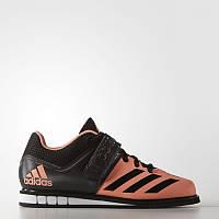 Кроссовки штангетки Adidas PowerLift 3 оранжевые с черным (Адидас)