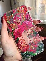 Силиконовый чехол с фламинго для iphone 5/5S