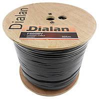 Коаксиальный кабель Dialan F660BV  черный1,02 мм Экранирование 60% 75 Ом  1м