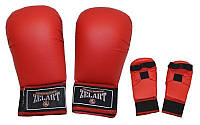Накладки для каратэ Zelart (полиуретан) красные L