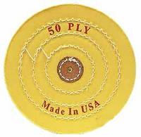 Круг муслиновый d-150 мм, 50 слоев, желтый (средней твёрдости)