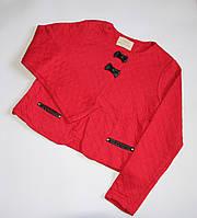 Пиджак с отделкой из эко-кожи