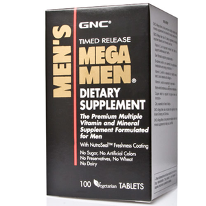 GNC INTL MEGA MEN REFORMULATION 100 caps