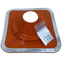 Разрезной Кровельный проход Dektite Combo (Master Flash) для металлических и битумных крыш Любой Размер 108-190мм, Красный силикон