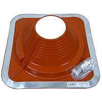 Разрезной Кровельный проход Dektite Combo (Master Flash) для металлических и битумных крыш Любой Размер 125-230мм, Красный силикон