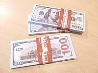 Сувенирные купюры, деньги 100 долларов новые
