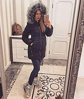Женская зимняя модная куртка из плащевки (4 цвета)