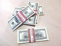 Сувенирные купюры, деньги 100 долларов старые