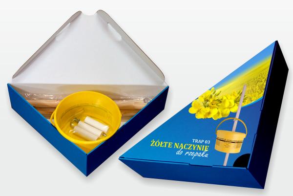 Желтые контейнеры ловушки Контроль  вредителей  рапса и горчицы